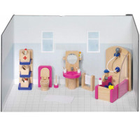 Goki - 51748 Doll Furniture Bathroom (22 Piece), 13,8cm